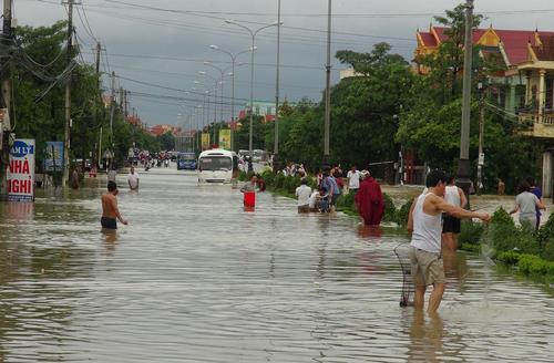 سیل در شهر هانوی ویتنام