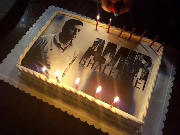 کیک تولد ۵۳ سالگی امیر قلعه نویی + عکس