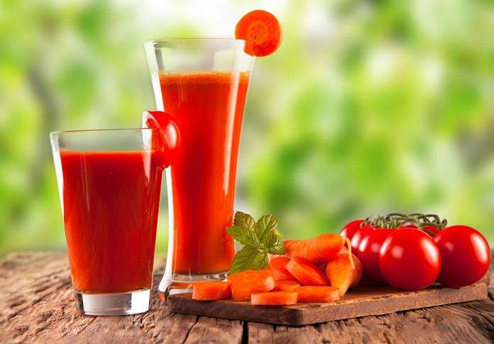 معجون شگفت انگیز گوجه فرنگی و هویج برای چاقی صورت