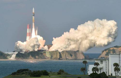 پرتب راکت ماهواره هوا شناسی ژاپن به فضا