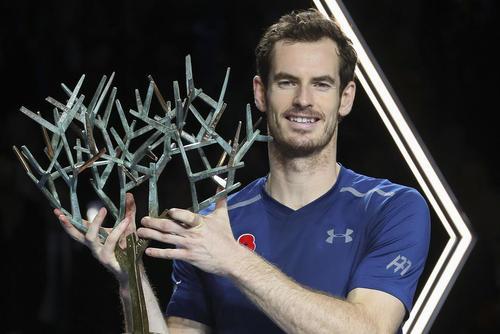 قهرمانی اندی موری تنیس باز بریتانیایی در تورنمنت تنیس پاریس