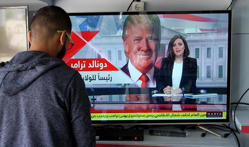 یک فروشگاه تلویزیون در باریکه غزه