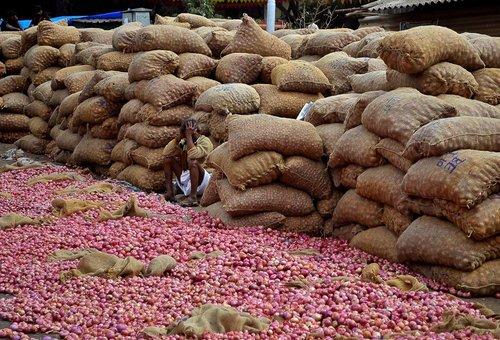 بازار فروش پیاز در بنگلور هند