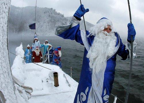 بابانوئل ها در سیبری روسیه