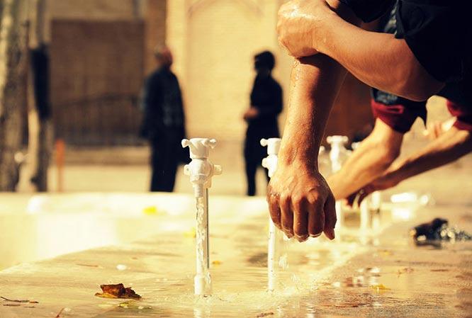 حکم وضو گرفتن از آب سردکن های مخصوص نوشیدن