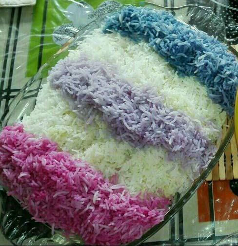 چگونه برنج را با رنگ های طبیعی تزئین کنیم؟