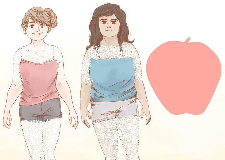 نحوه انتخاب لباس برای فرم بدن سیبی شکل