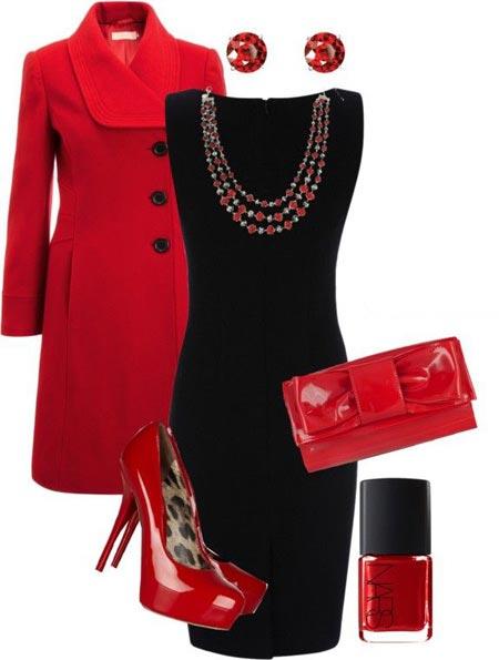 مدل های ست پاییزی و زمستانی قرمز و مشکی