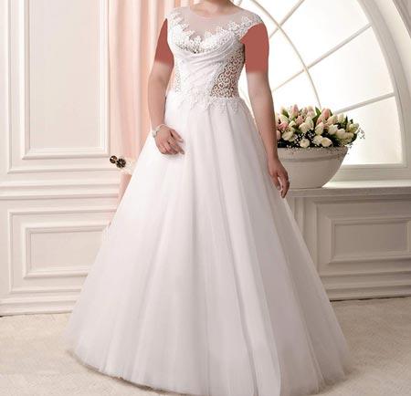 مدل های جدید لباس عروس سایز بزرگ