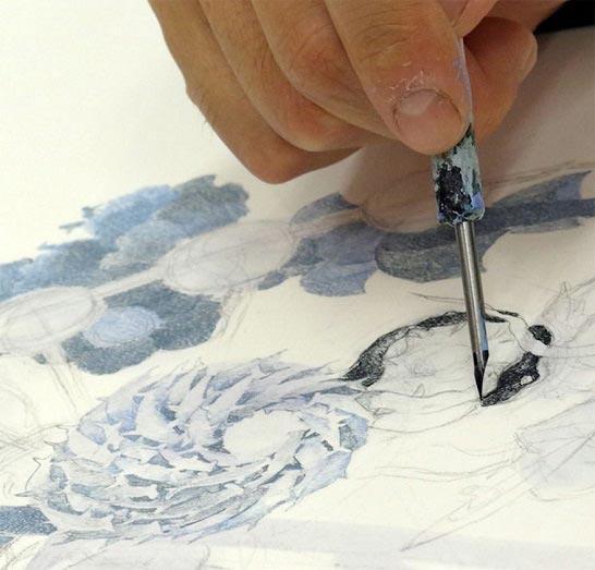 نقاشی های شگفت انگیز با جوهر و خودنویس + تصاویر