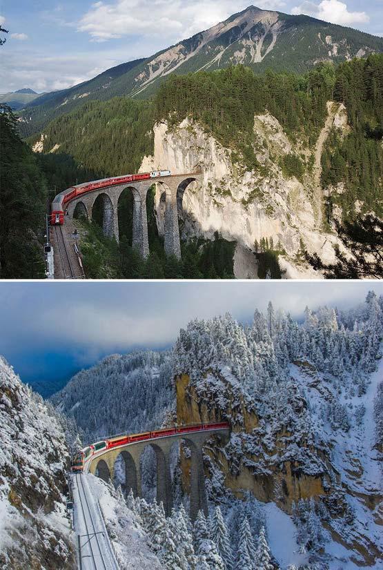 تصاویری زیبا از منظره های مشابه در دو زمان متفاوت