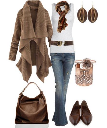 مدل های ست زمستانی به رنگ سرمه ای و قهوه ای
