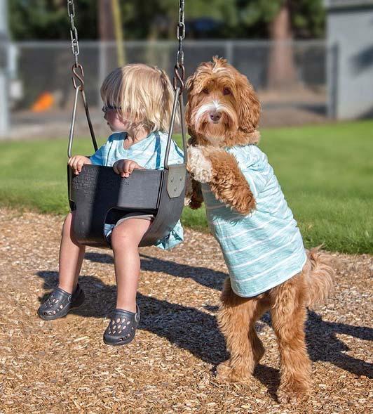 دوستی عجیب یک پسر سه ساله و سگش + تصاویر