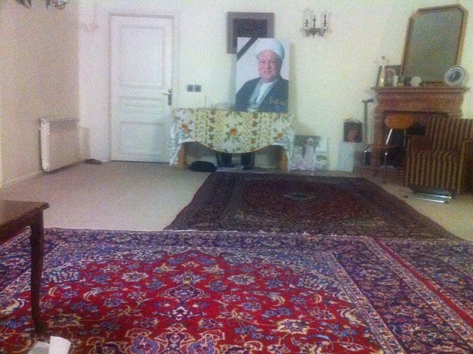 نمایی از اتاق آیت الله هاشمی رفسنجانی + عکس