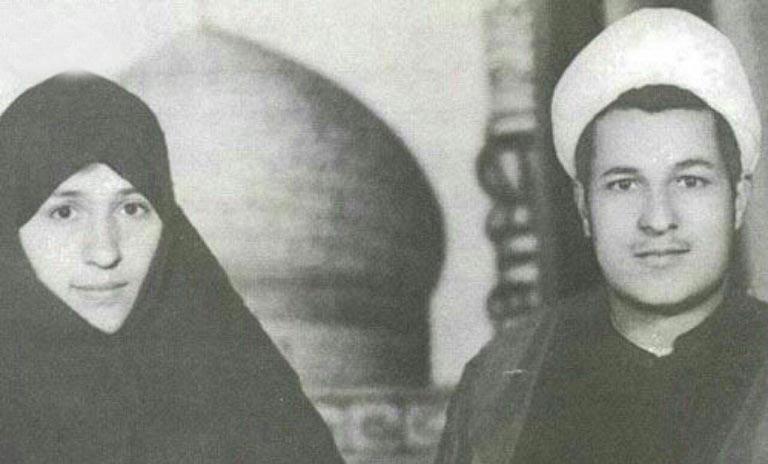 عکس دیده نشده از آیت الله هاشمی رفسنجانی و همسرش