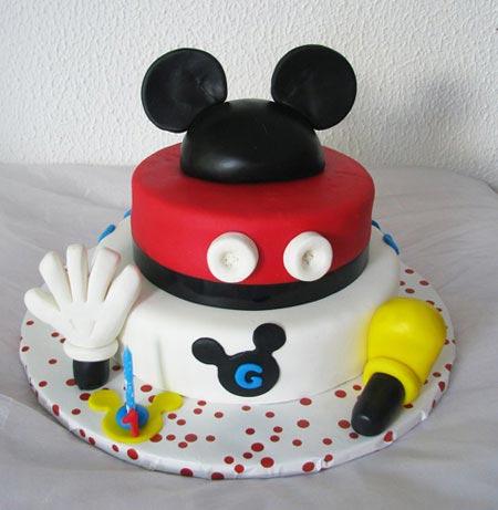 مدل های کیک تولد با طرح میکی موس