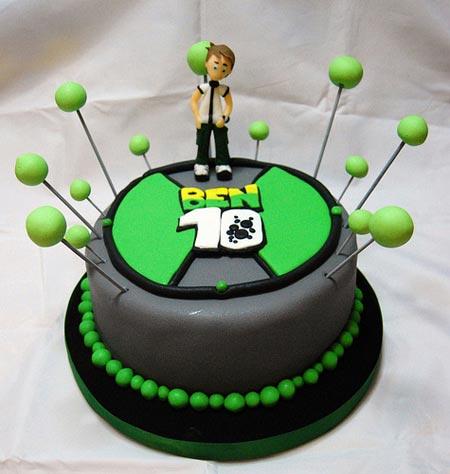 مدل های کیک تولد با طرح بن تن