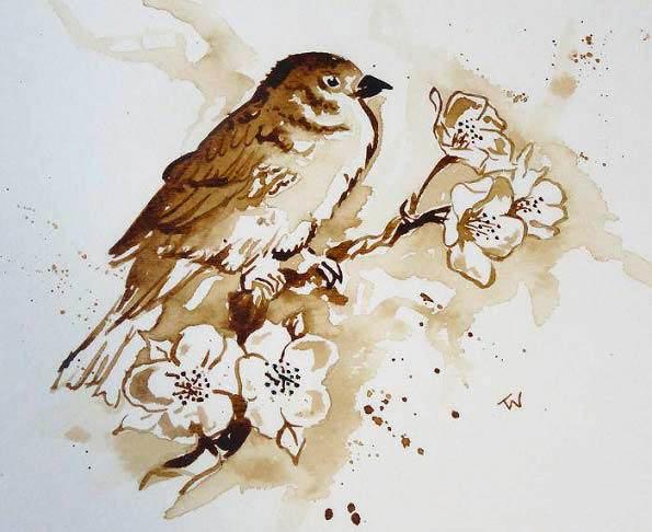 نقاشی های شگفت انگیز با قهوه + تصاویر