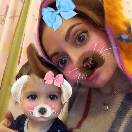 عکس جالب مهناز افشار و دخترش لیانا