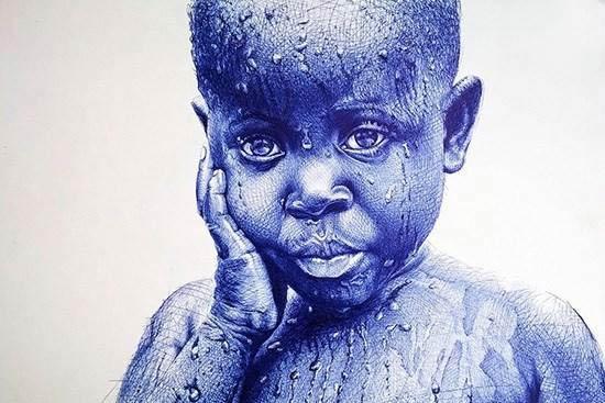 تصاویر جالب از هنرنمایی با خودکار
