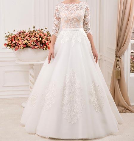 مدل های جدید لباس عروس آستین دار