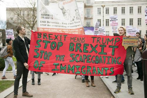 تظاهرات علیه ترامپ و برگزیت در لندن