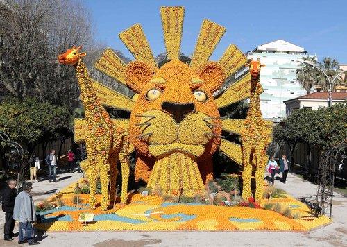 هشتادوچهارمین جشنواره سالانه مرکبات در شهر منتون فرانسه
