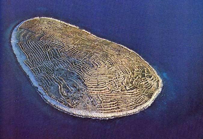 جزیره ای شبیه به اثر انگشت + تصاویر