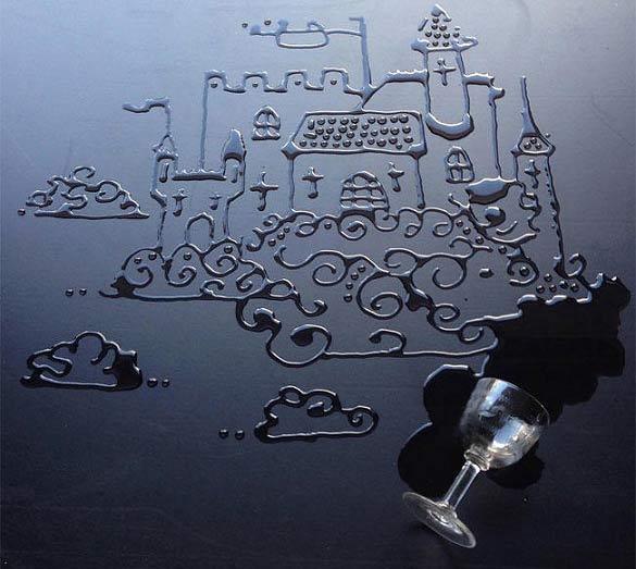 نقاشی با قطره های آب + تصاویر