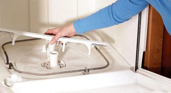 روش تمیز کردن محل تخلیه آب ماشین ظرفشویی
