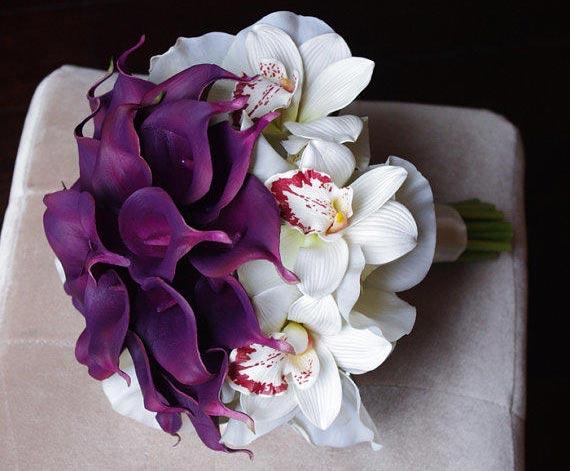 مدل های زیبای دسته گل عروس با گل شیپوری