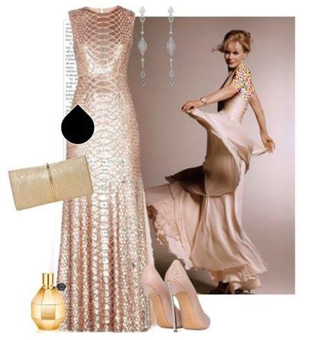 مدل های ست لباس شب به سبک نیکول کیدمن