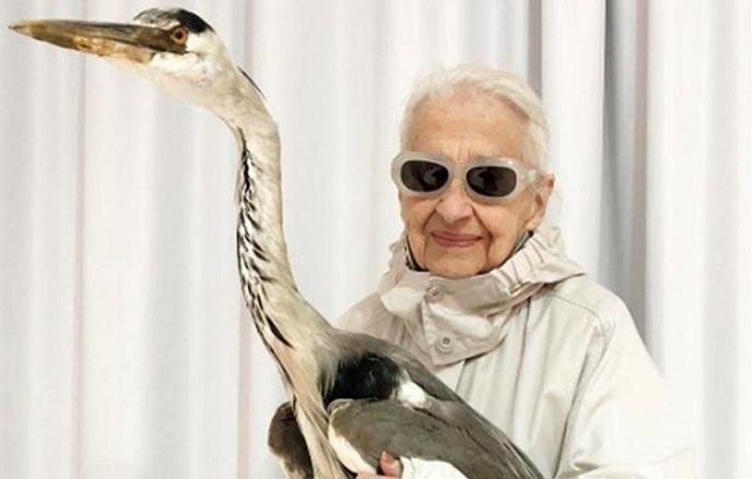 پیرزن 95 ساله اتریشی در دنیای مد و لباس + تصاویر