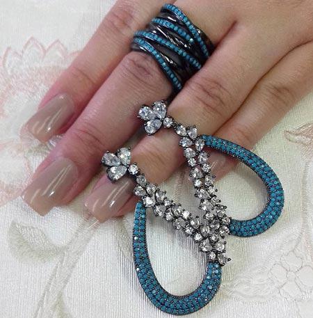 مدل های زیبای نیم ست جواهر