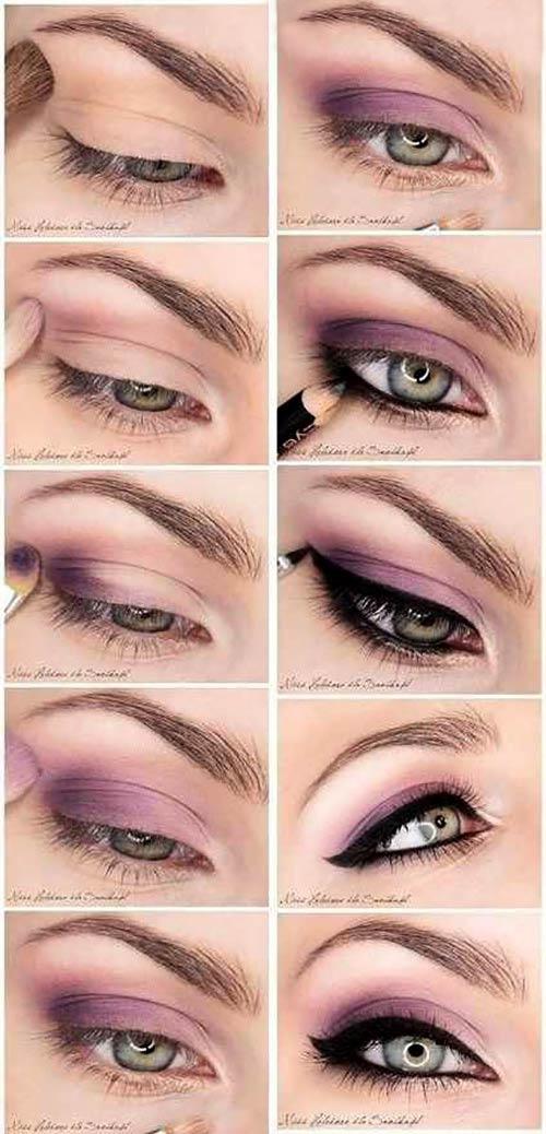 آموزش تصویری سایه چشم مخصوص تابستان