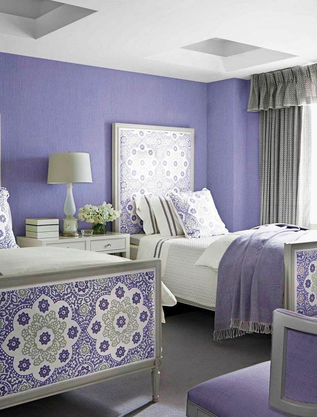 جدیدترین مدل های دکوراسیون اتاق خواب به رنگ یاسی