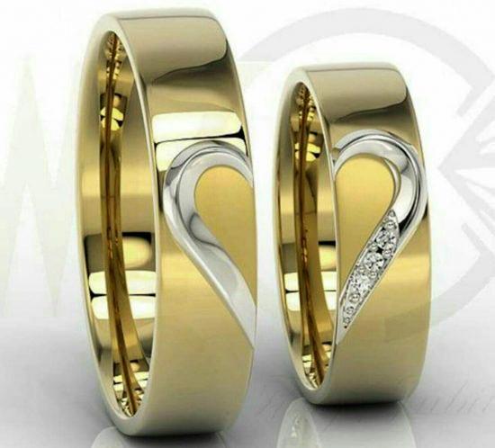 مدل های زیبای حلقه ست عروس و داماد