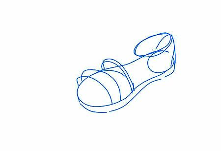 آموزش تصویری کشیدن نقاشی کفش