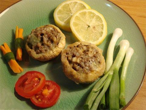 طرز تهیه قارچ شکم پر با گوشت