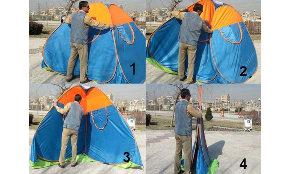 چگونه چادر مسافرتی را جمع کنیم؟