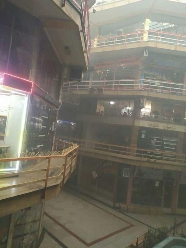 آتش سوزی در پارکینگ بازار امت تبریز