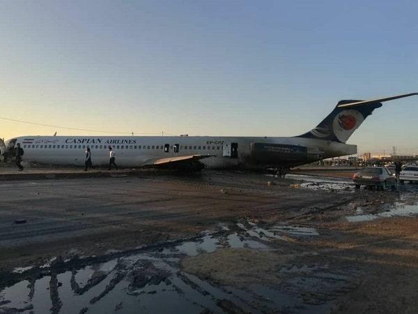 خروج هواپیمای کاسپین از باند فرودگاه ماهشهر