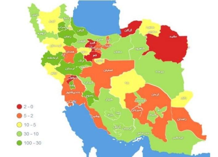 آخرین آمار(کووید19) کرونا در کشور  ۵۷۱۰ بهبودیافته و ۱۱۳۵ جانباخته