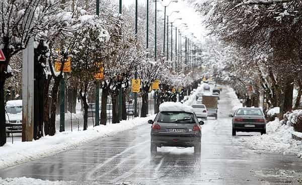 بارش برف بهاری در تهران