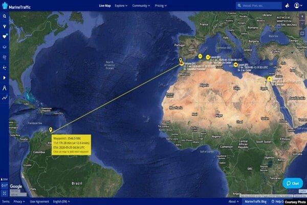 نفتکش های ایرانی به نزدیکی ونزوئلا رسیدهاند