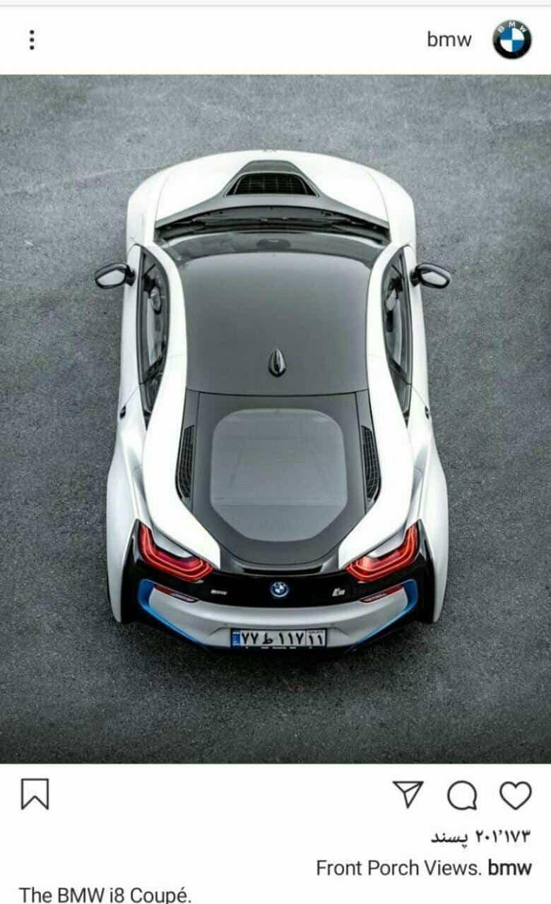 تصویر خودروی BMW i8 با پلاک ایران در صفحه اینستاگرام BMW